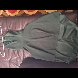 Green Highlow homecoming dress